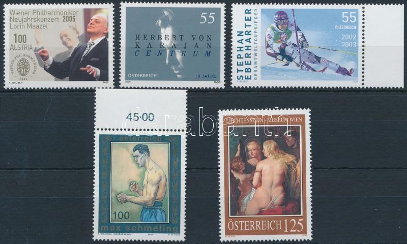 5 stamps, 5 klf bélyeg, köztük 2 ívszéli