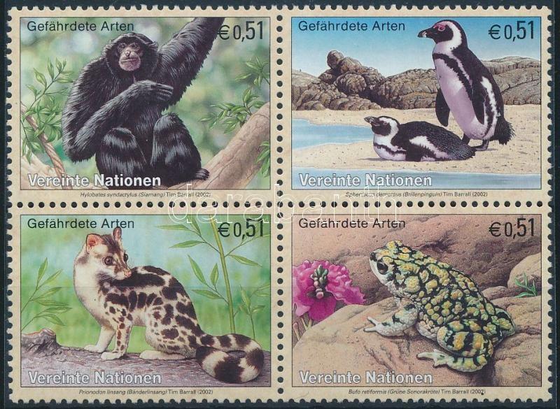 Fauna set in block of 4, Állatvilág sor négyestömbben