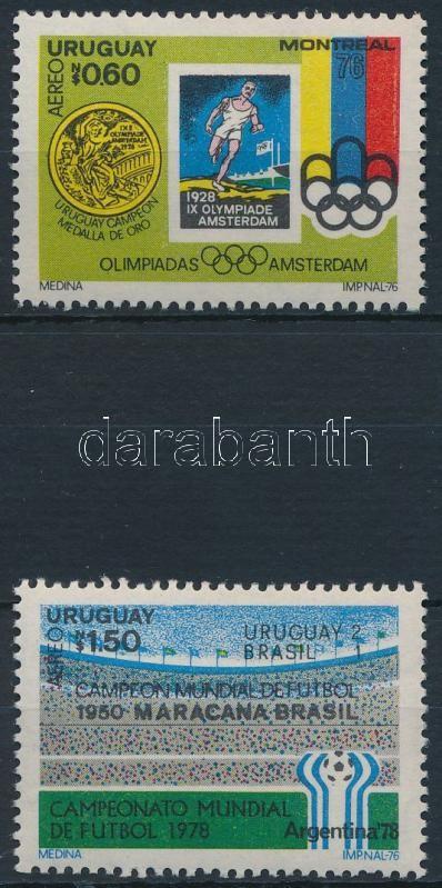 Football 2 stamps from block, Labdarúgás 2 klf blokkból kitépett bélyeg