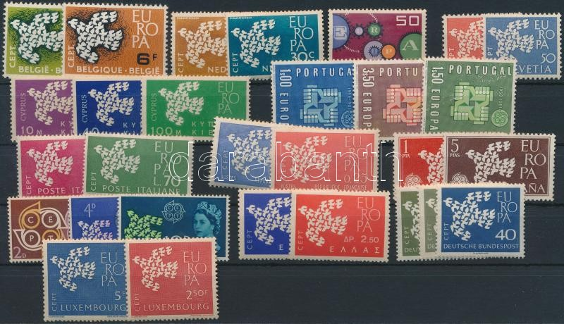 Europa CEPT 13 klf ország 29 klf bélyeg, Europa CEPT 13 diff country 29 diff stamp