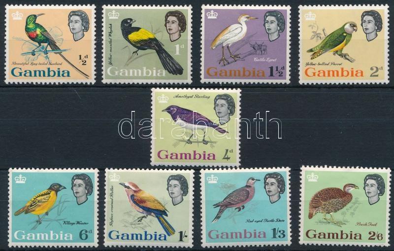 9 Birds stamps, 9 klf Madár bélyeg