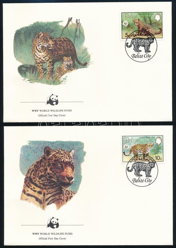 WWF: Jaguar set on 4 FDC, WWF: Jaguár sor 4 db FDC-n