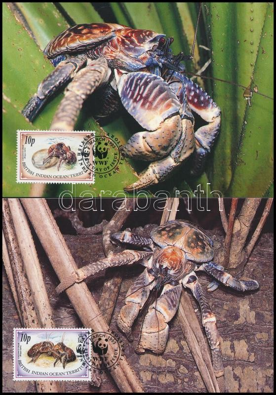 WWF: Coconut crab set on 4 CM, WWF: Pálmatolvaj sor 4 db CM-en