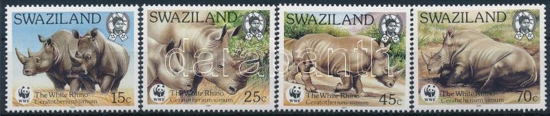 WWF Rhino set + 4 FDC, WWF: Orrszarvúk sor + 4 FDC
