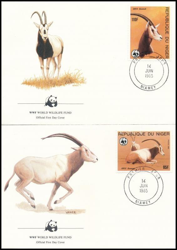 WWF: Antelope 4 FDC, WWF: Antilop 4 FDC
