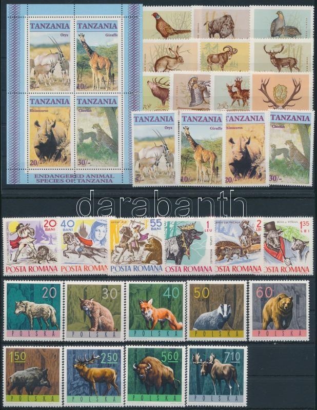 1964-1986 Animals 4 sets + 1 block, 1964-1986 Állat motívum 4 klf sor + 1 blokk