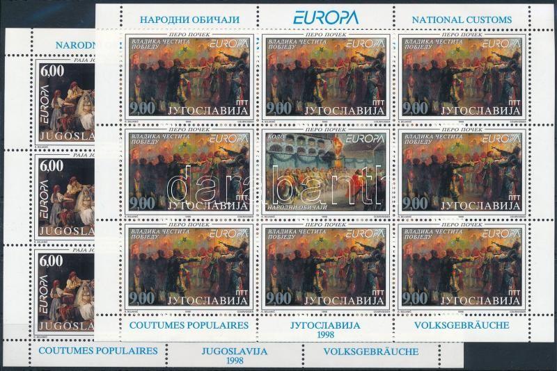 Europa CEPT National celebrations and festivals minisheet set, Europa CEPT: Nemzeti ünnepek és fesztiválok kisívsor