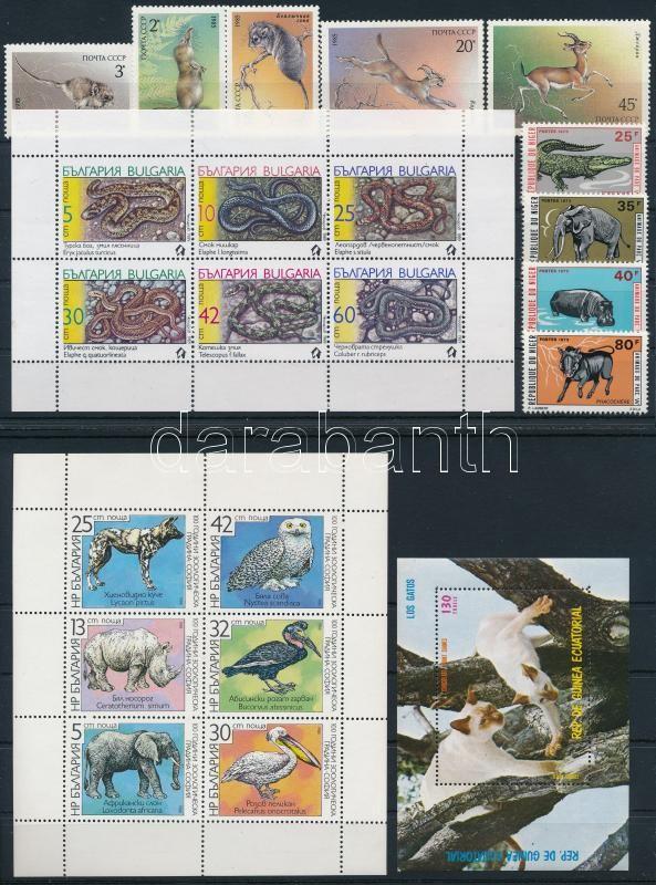 1973-1989 Animals 2 sets + 2 mini sheets + 1 block, 1973-1989 Állat motívum 2 db sor + 2 db kisív + 1 blokk 2 stecklapon