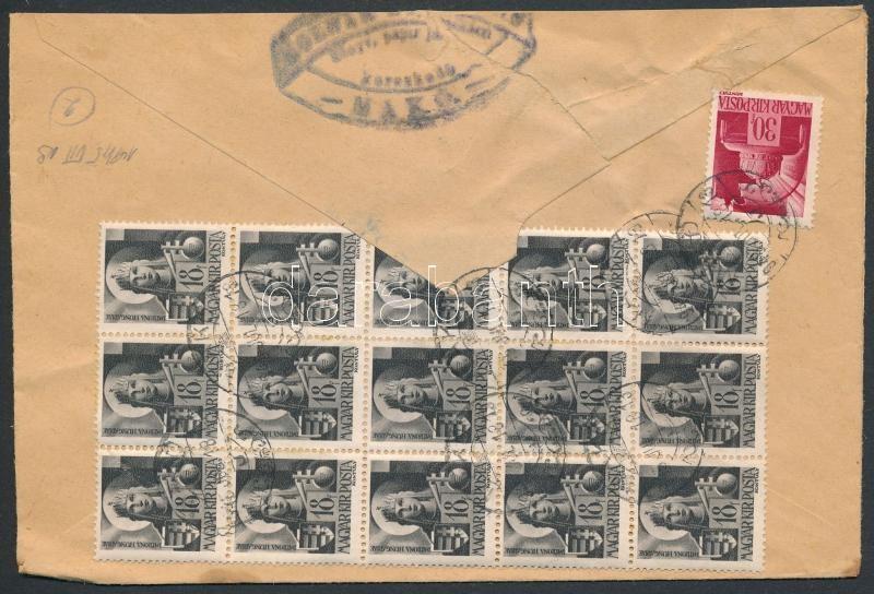 Inflation cover, (2. díjszabás)Távolsági levél 16 db Hadvezérek bélyeggel bérmentesítve