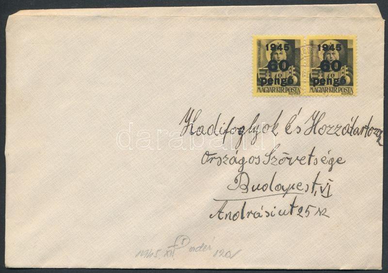 Inflation cover, (5. díjszabás) Távolsági levél Kisegítő 2x60P/18f bérmentesítéssel
