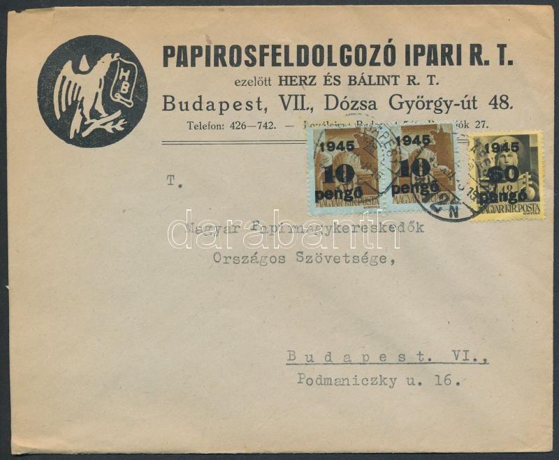 Inflation cover, (5. díjszabás) Helyi céges levél Kisegítő 2x10P/80f + 60P/18f bérmentesítéssel
