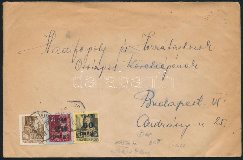 Inflation cover, (5. díjszabás) Helyi levél Kisegítő 20P/30f + 60P/18f bérmentesítéssel