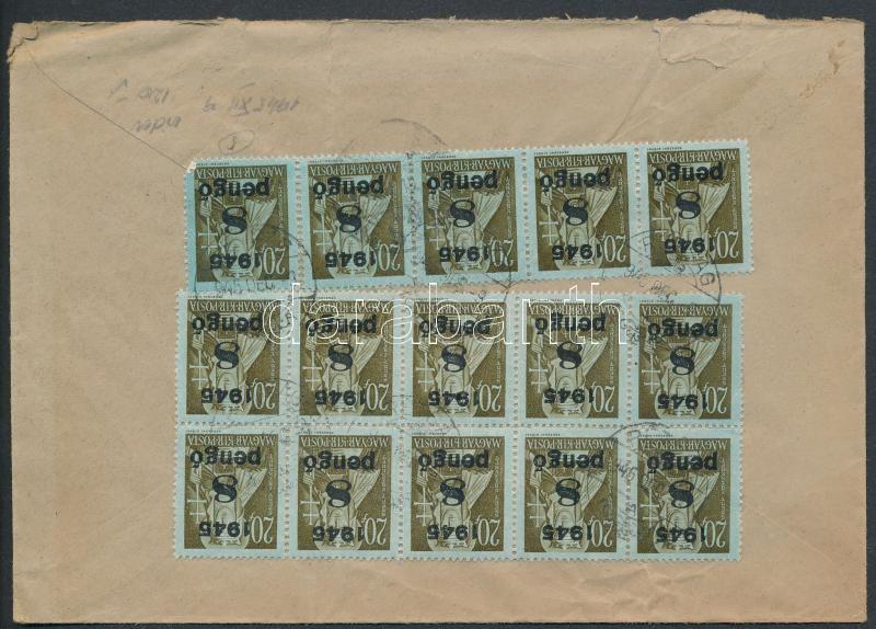 Inflation cover, (5. díjszabás) Távolsági levél Kisegítő 15x8P/20f bérmentesítéssel