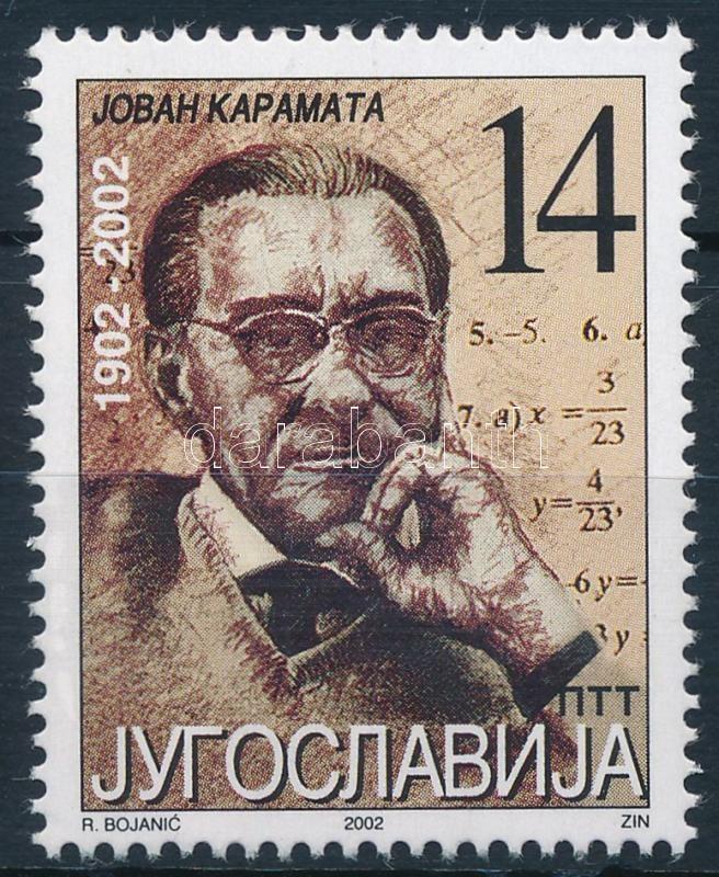 Jovan Karamata, Jovan Karamata születésének 100. évfordulója