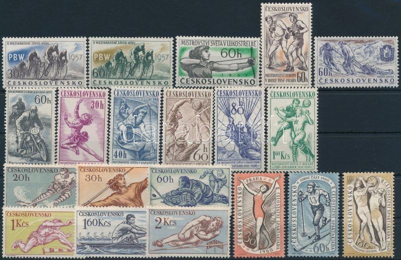 1957-1960 Sport 4 diff sets + 1 stamp, 1957-1960 Sport motívum 4 klf sor + 1 db önálló érték