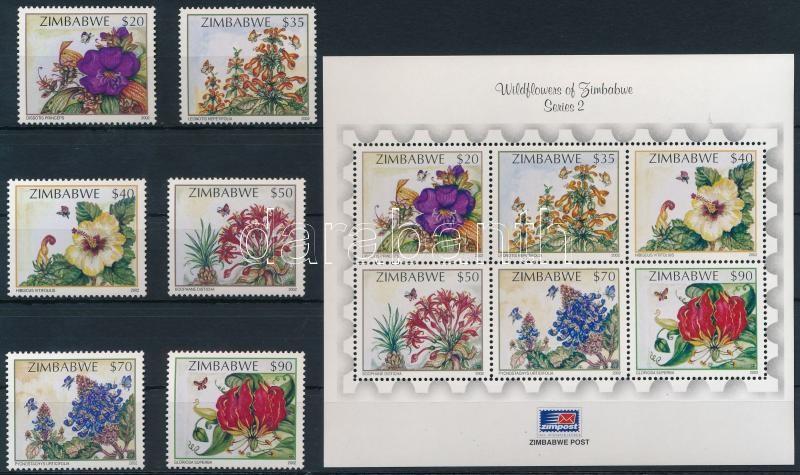 Wildflower set + block, Vadvirág sor + blokk