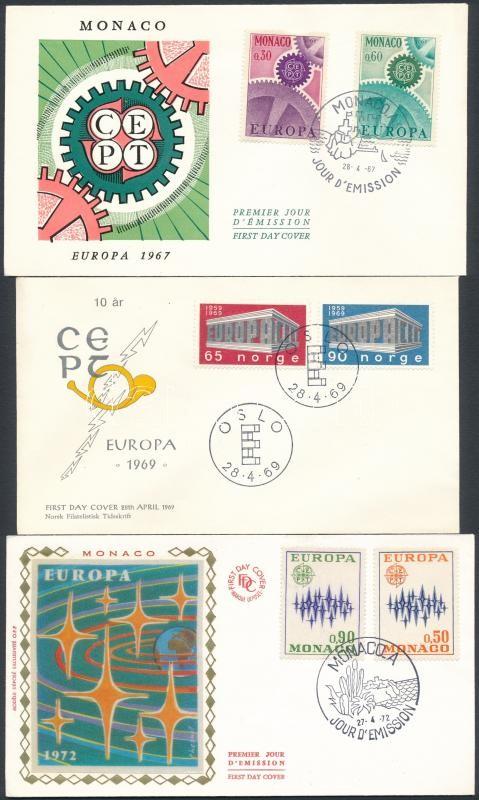 Europa CEPT 1967-1982 5 FDC, Europa CEPT 1967-1982 5 klf FDC