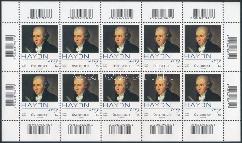 Joseph Haydn kisív, Joseph Haydn mini sheet