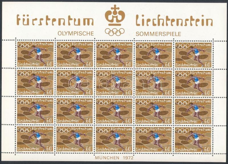 Summer Olympics mini sheet set, Nyári olimpia kisív sor