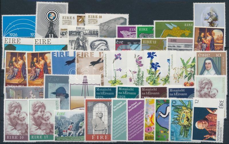1976- 1979 12 sets + 9 stamps, 1976- 1979 12 klf sor + 9 klf önálló érték