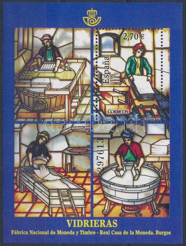 Glass painting block, Üvegfestészet blokk