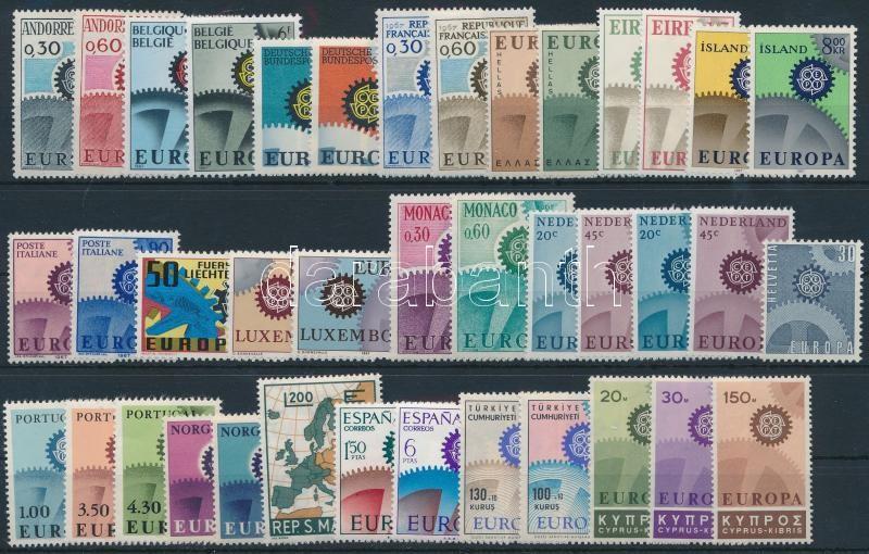 Europa CEPT 39 stamps, Europa CEPT gyűjtemény, 39 különféle bélyeg
