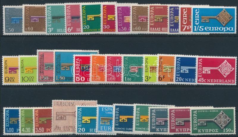 Europa CEPT 35 stamps, Europa CEPT gyűjtemény, 35 különféle bélyeg