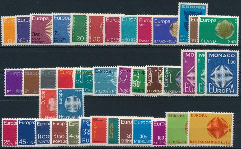 Europa CEPT 41 stamps, Europa CEPT gyűjtemény, 41 különféle bélyeg