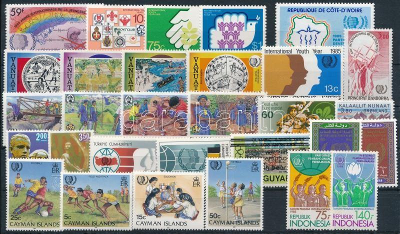 Year of Youth 30 stamps, Ifjúság éve motívum 30 klf bélyeg