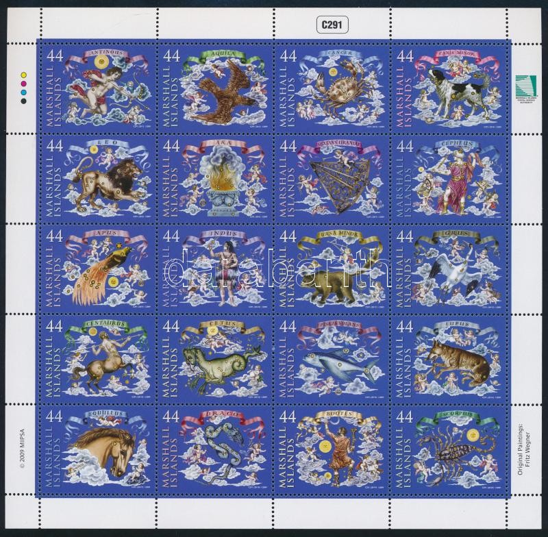 Constellations complete sheet, Csillagképek teljes ív