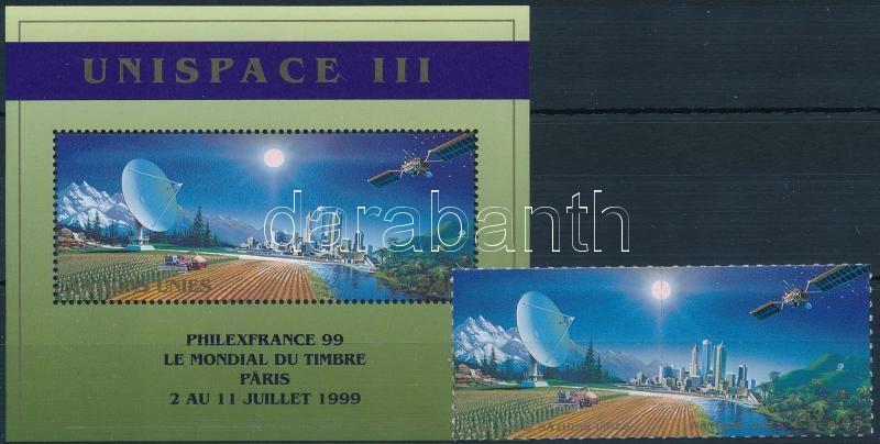 UNISPACE III aerospace conference pair + block, UNISPACE III űrkutatási konferencia pár + blokk