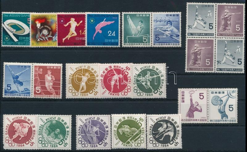 1958-1963 Sport 22 stamps, 1958-1963 Sport motívum 22 db bélyeg