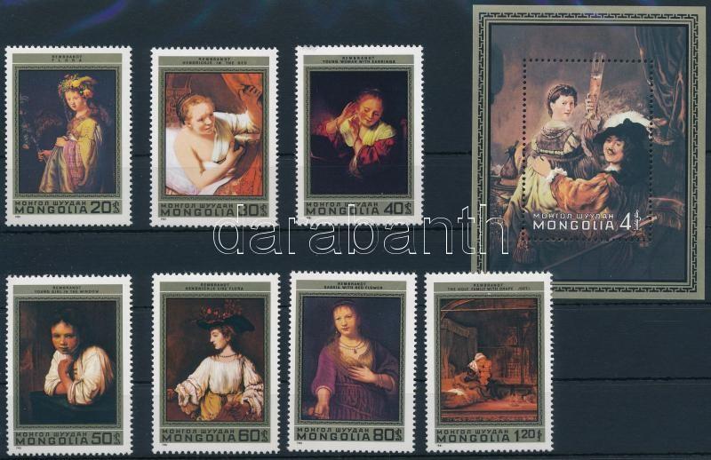 Rembrandt set + block, Rembrandt sor + blokk