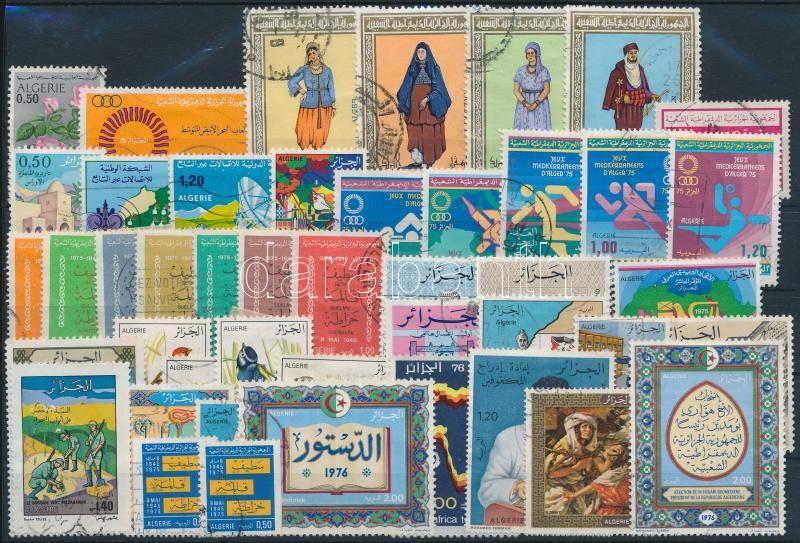 1975-1976 45 stamps, 1975-1976 45 klf bélyeg, közte csaknem a teljes két évfolyam kiadásai