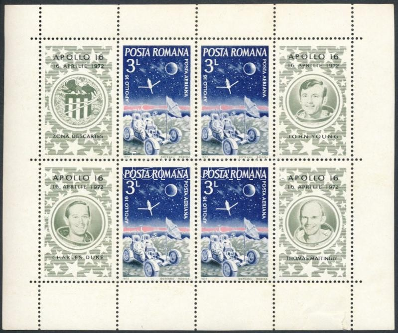 Space Research: Apollo 16 block, Űrkutatás: Apollo 16 blokk