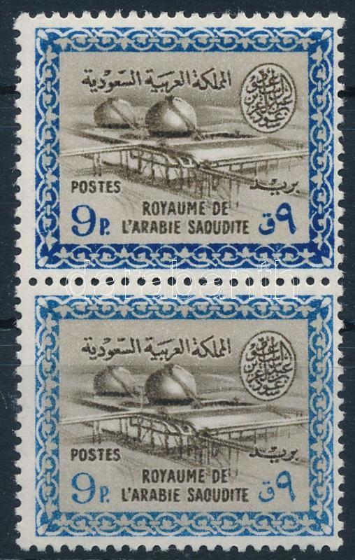 1963/1965 Oil refinery closing value in pair, 1963/1965 Olajfinomító záróérték párban