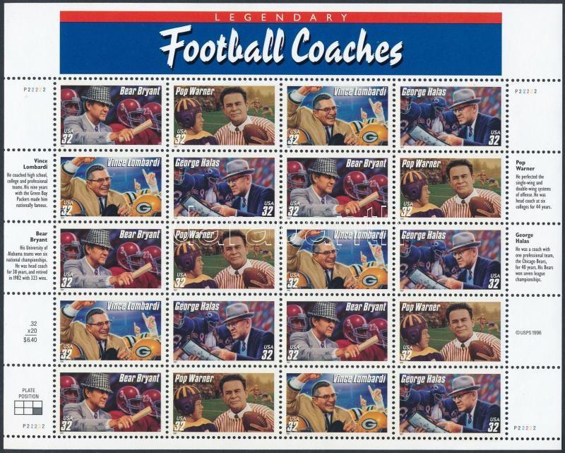 1997 Amerikai fociedzők kisív Mi 2853-2856