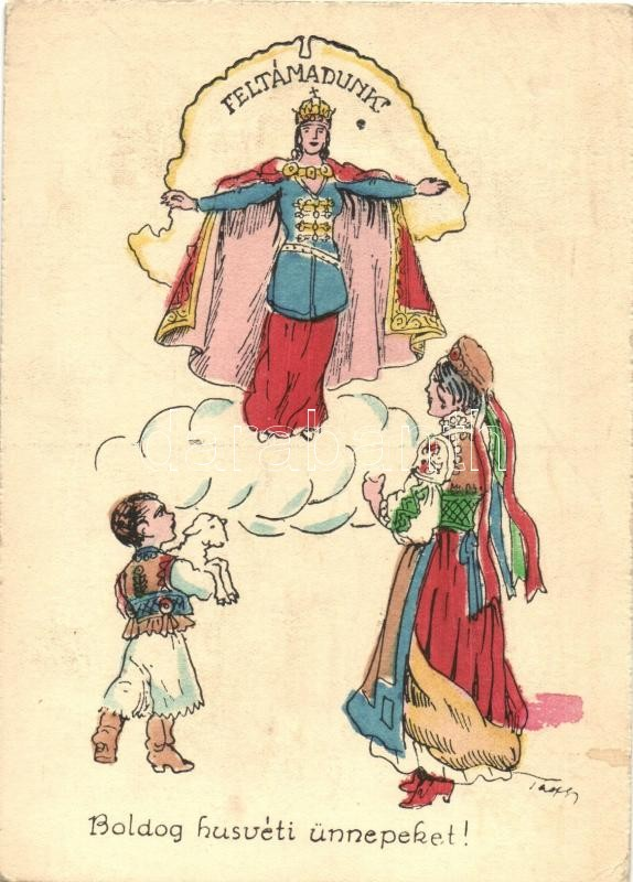 Feltámadunk! Boldog húsvéti ünnepeket!' / Hungarian folklore ...