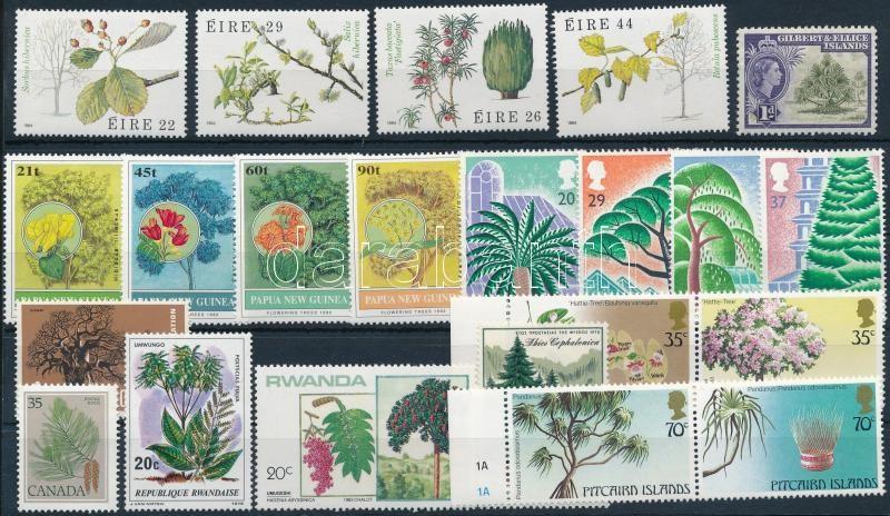 1956-1992 Tree 4 sets + 6 stamps, 1956-1992 Fa motívum 4 db sor + 6 db önálló érték