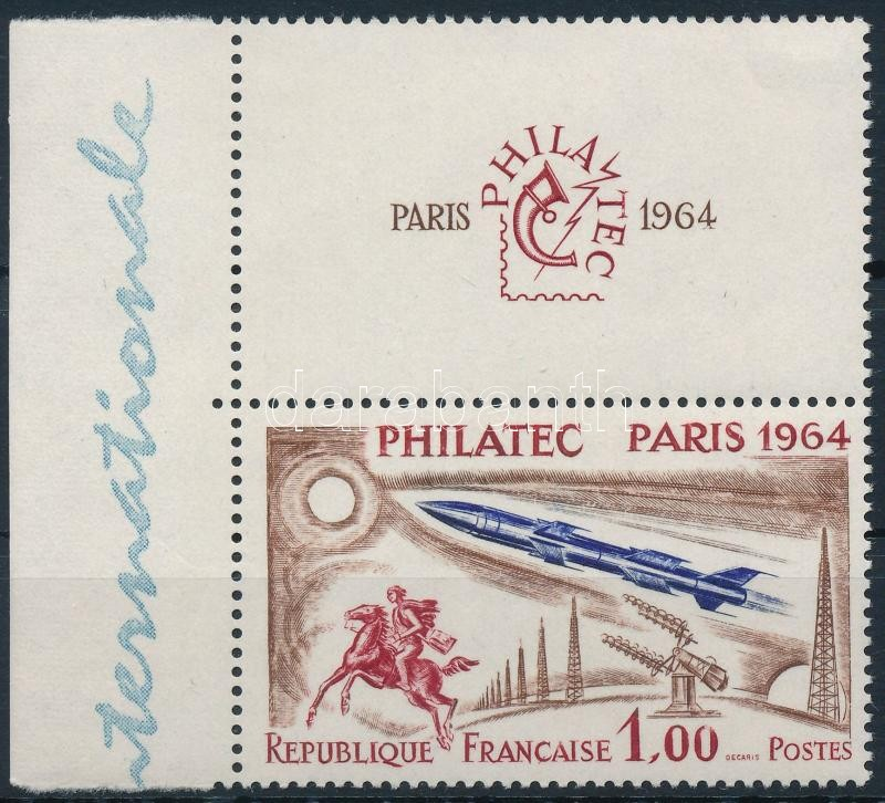 Space Research margin stamp with coupon, Űrkutatás szelvényes ívszéli bélyeg