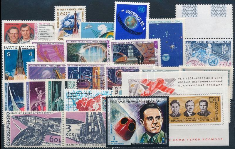 Space Research 1972-1984 4 sets + 1 block + 10 stamps, Űrkutatás 1972-1984 4 klf sor + 1 blokk + 10 klf önálló érték