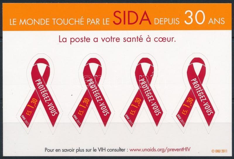 AIDS campaign foil sheet, AIDS kampány fóliaív