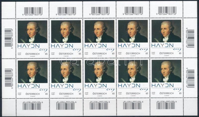 Joseph Haydn minisheet, Joseph Haydn kisív
