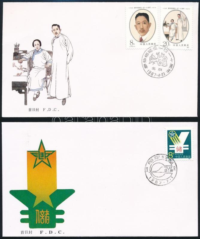 1987-1988 4 FDC, 1987-1988 4 db FDC