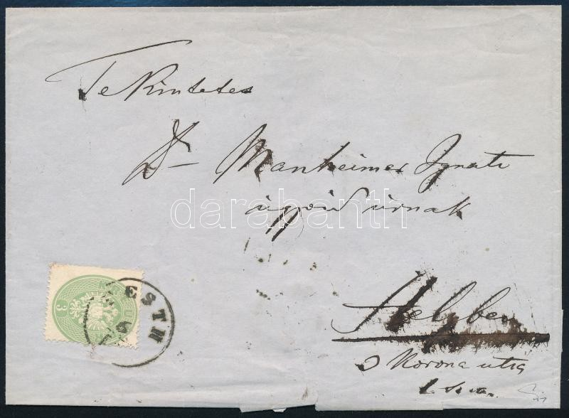 ~1863 3kr + 5kr on a very rare registered local cover