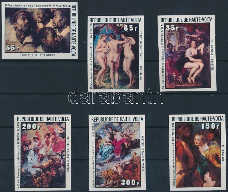 Rubens paintings imperforate set, Rubens festmény vágott sor