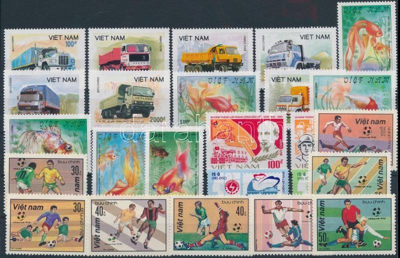 25 stamps, 25 klf bélyeg, közte sorok