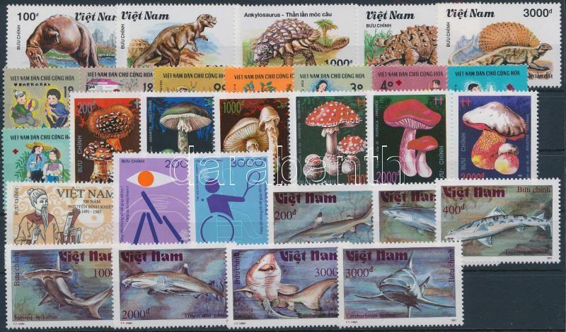 1990-1991 29 stamps, 1990-1991 29 klf bélyeg, közte sorok
