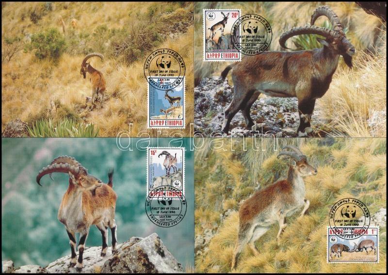 WWF Goat set 4 CM, WWF: Kecske sor 4 db CM