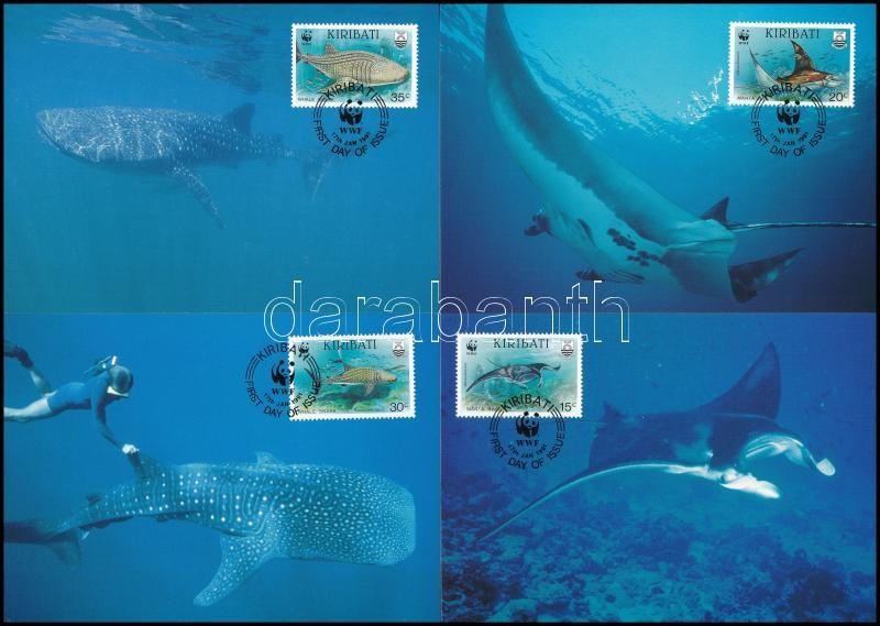 WWF Sea animals set 4 CM, WWF: Tengeri állatok sor 4 db CM-en